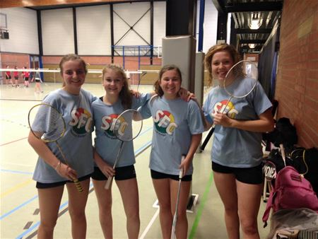 Collegeploeg is Vlaams kampioen badminton